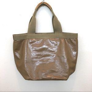 J. Crew shoulder bag purse tan with leather trim